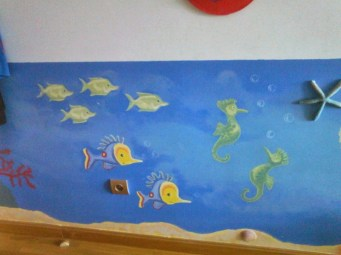 Pintura mural dormitorio infantil