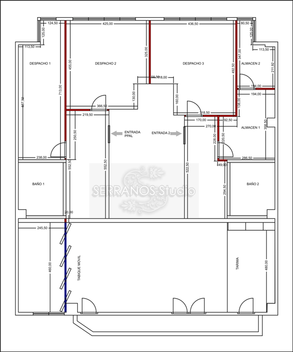 Plano distribucion oficinas reformas y decoraci n de for Distribucion de oficinas modernas
