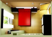proyecto dormitorio vista aerea