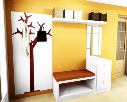 Proyectos a medida reformas y decoraci n de interiores for Papel pintado tonos naranjas
