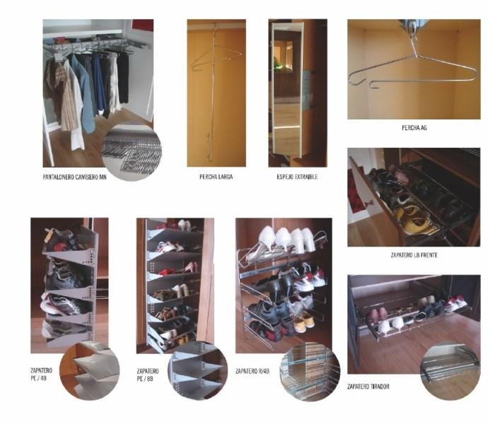 Accesorios para interiores de armario zapateros Accesorios para decorar interiores