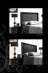 Cabeceros de cama Mugali opciones de tapizado