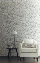 Papel pintado textura grises y tostados Place Vendome Casamance