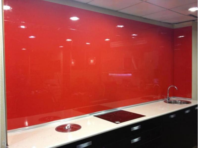 Panel laca brillo rojo para revestimientos de paredes de - Revestimientos paredes cocina ...
