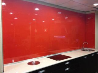 Panel laca brillo rojo para revestimientos de paredes de cocina