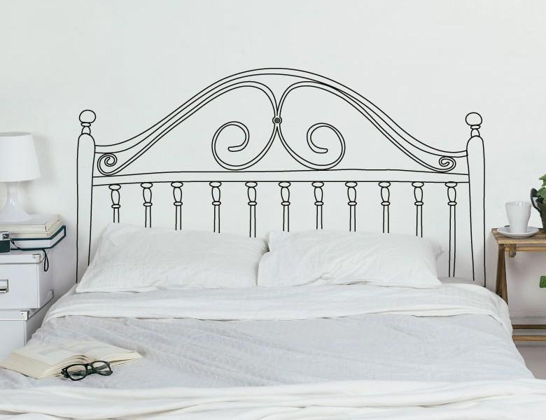 Vinilo cabecero de cama poco espacio reformas y - Vinilo cabecero cama ...