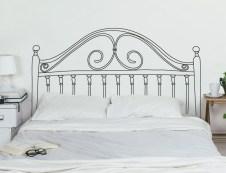 Vinilo cabecero de cama poco espacio