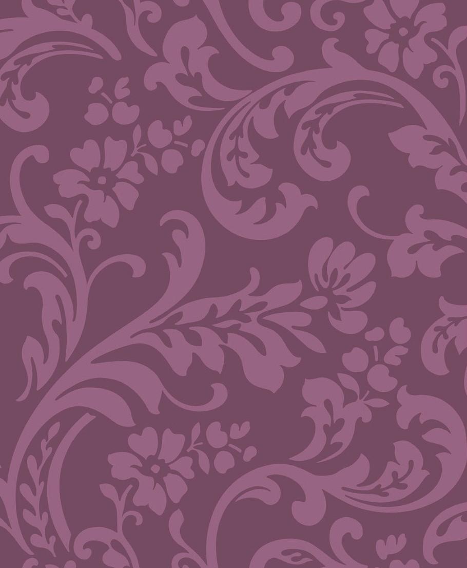Papel pintado color morado reformas y decoraci n de - Papel pintado morado ...