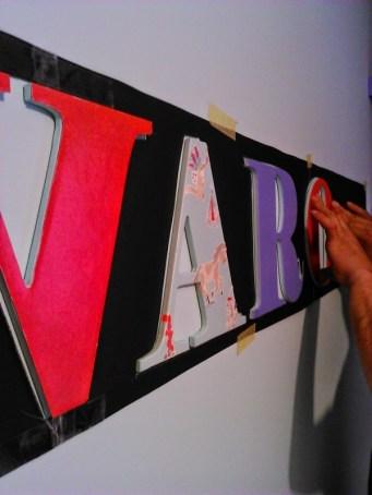 Plantilla para letras de madera en la pared