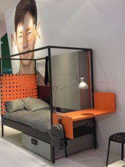 Feria del mueble Cama Nook JJP dormitorio juvenil escritorio modular