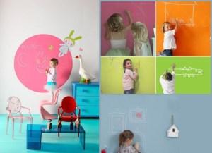 Pintura efecto pizarra colores para habitaciones infantiles
