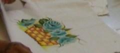 Pintura em tecidos.