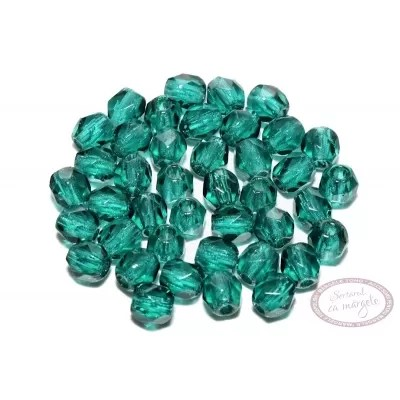 Margele Fire Polish 3mm : Dark Emerald, 80 buc.