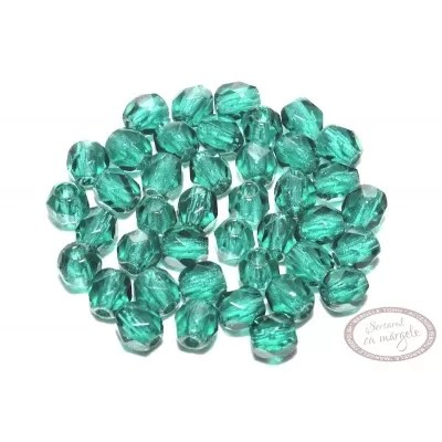 Margele Fire Polish 3mm : Emerald, 80 buc.