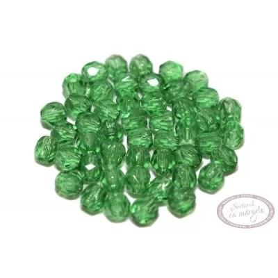 Margele Fire Polish 3mm : Green,  80 buc