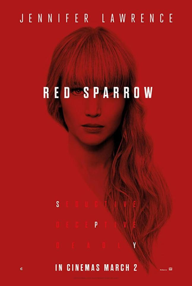 Jennifer Lawrence Red Sparrow Movie Poster
