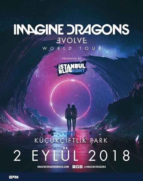 Imagine Dragons 2 Eylül 2018 Konser Posteri