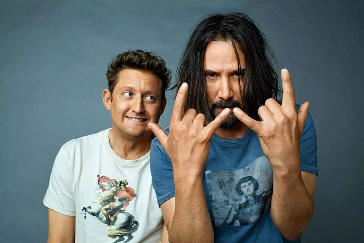 Keanu Reeves ve Alex Winter Bill & Ted