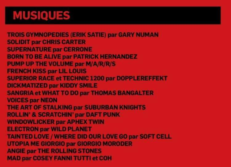 Gaspar Noé Climax Soundtracks from Daft Punk