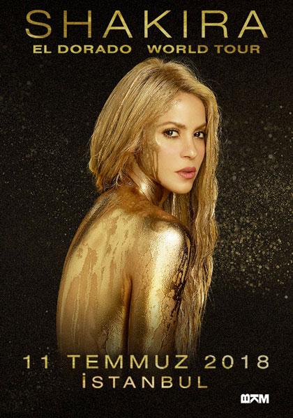 Shakira İstanbul Konseri Posteri