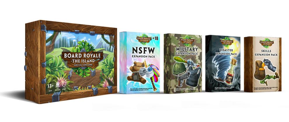 Board Royale - Survival Card Game projesine Kickstarter sayfasından destek verilebiliyor