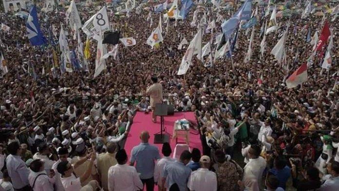 Prabowo Kampanye di Padang