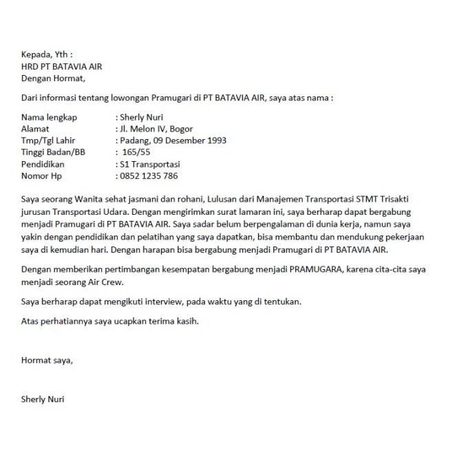 18 Contoh Surat Lamaran Kerja Untuk Segala Posisi Pasti Dilirik Hrd