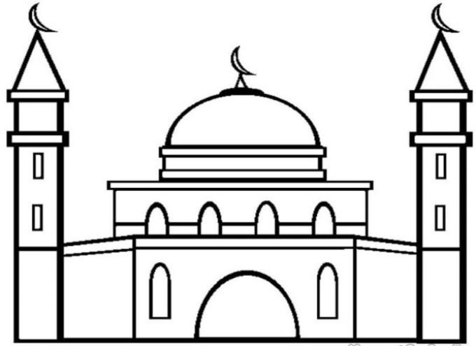31 Mewarnai Gambar Masjid Terbaru Terkini Lingkar Png