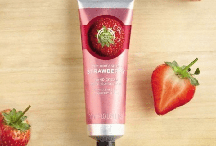 Body Shop Strawberry Hand Cream