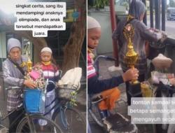 Kisah Haru, Seorang Ibu Mengayuh Sepeda Demi Menemani Anaknya Olimpiade