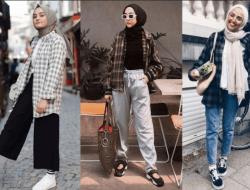8 Gaya OOTD Kemeja Flanel untuk Wanita Berhijab