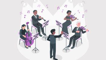 Pertunjukan-Musik-Barat-Teknik,-Organ,-Latihan-Vokal,-Instrumen,-dsb