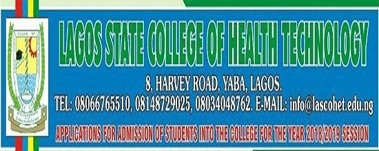 Lagos state college of health technology admission