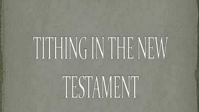 Photo of Tithe And Offering Isn't A Legalism In New Testament