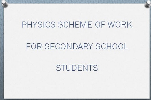 physics scheme of work