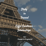 Eiffel Excellence Scholarships