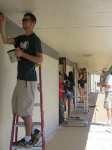 Painting at Periwinkle Elementary