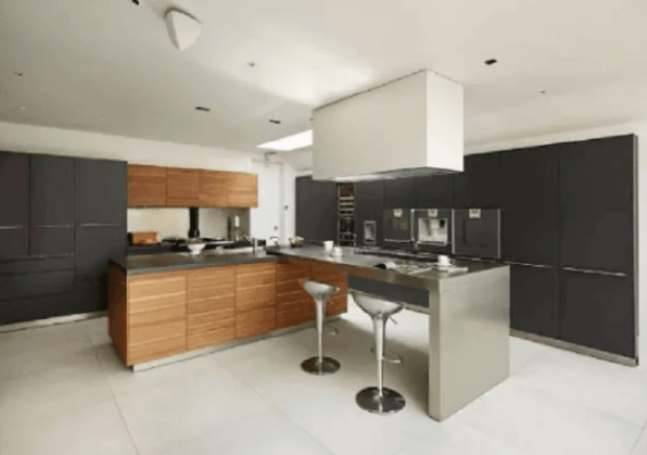 Large L Shaped Kitchen Design