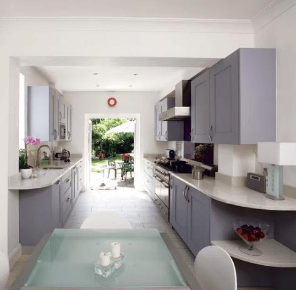 Bright Galley Kitchen Ideas by pinterest