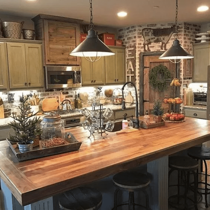 Rustic Kitchen Farmhouse Style