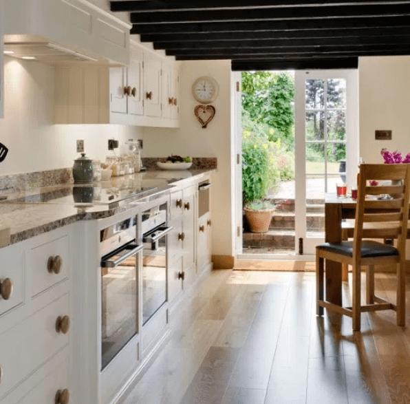 French Farmhouse Style Galley Kitchen