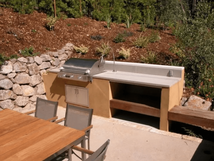 simple outdoor kitchen ideas by homeromantic.com