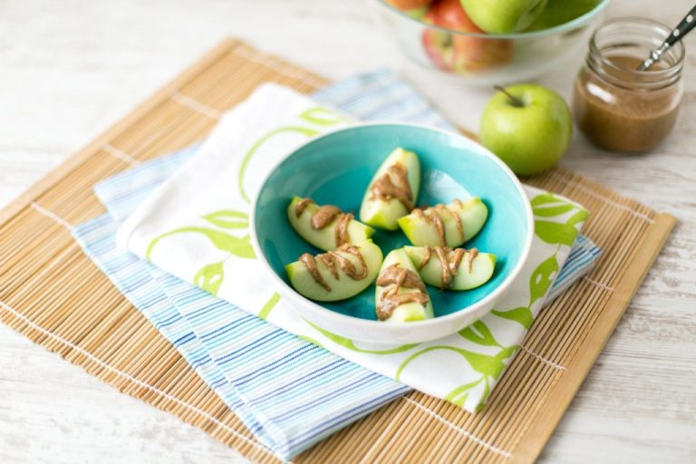 apple and almond butter boats