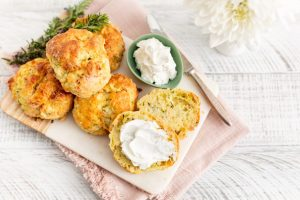 Shane Smith Courgette goat cheese scones, I Love Cooking, Afternoon Tea Series, Kenwood