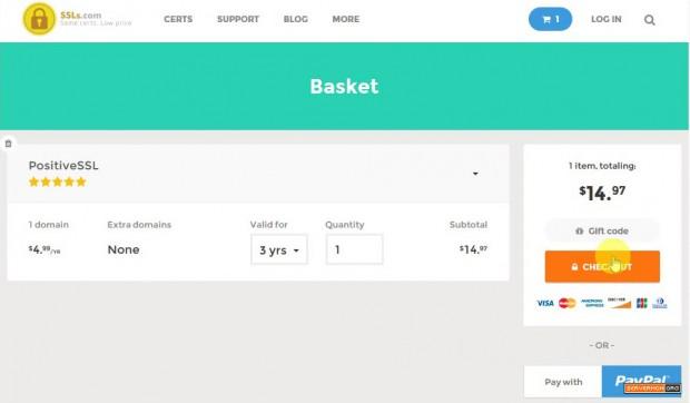 checkout buy ssl