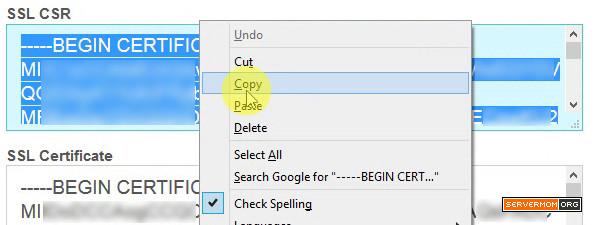 copy csr key vestacp