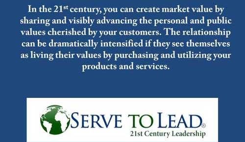 values create value quote from serve to lead