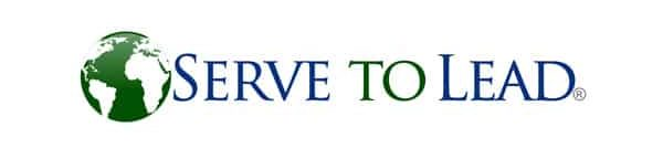 serve to lead 21st century leadership logo with green and white earth