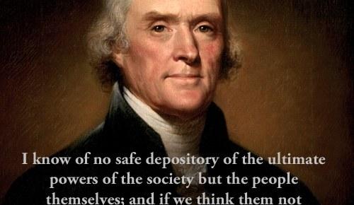 thomas jefferson painting color quote inform public discretion serve to lead quote