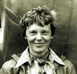 Amelia Earhart smiling at www.servetolead.org